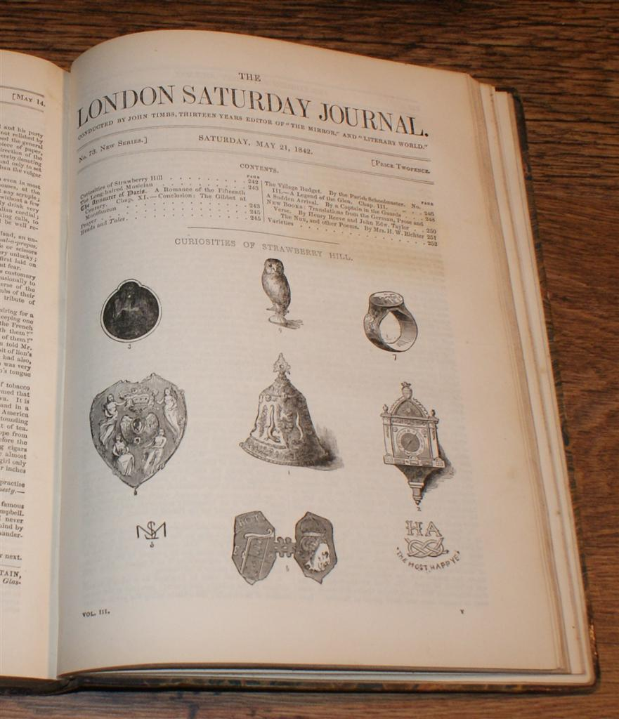 Image for The London Saturday Journal, New and Pictorial Series, Vol. III From January to June 18 1842, Inclusive. Nos. 53-77 New Series