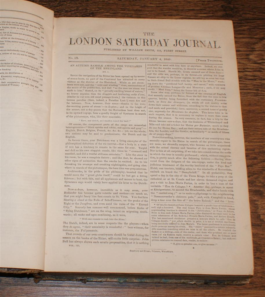 Image for The London Saturday Journal, Vol. III From January to June 1840. Nos. 53 to 72