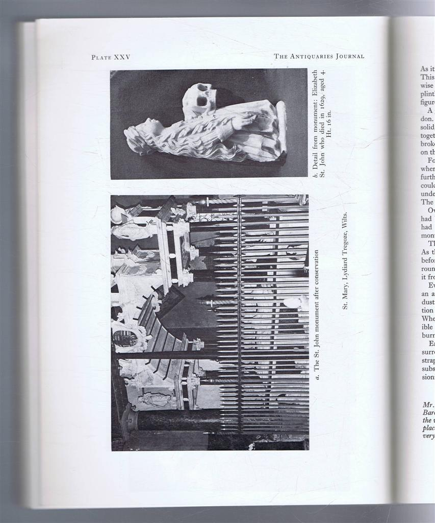 Image for The Antiquaries Journal, Being the Journal of The Society of Antiquaries of London, Volume LXI, 1981, Part I
