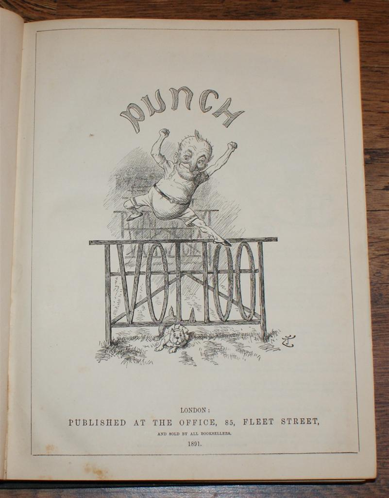 Image for Punch or The London Charivari, Vol. 100, January 3 - June 27 1891. Title page for last section bound at front. One Hundredth Volume