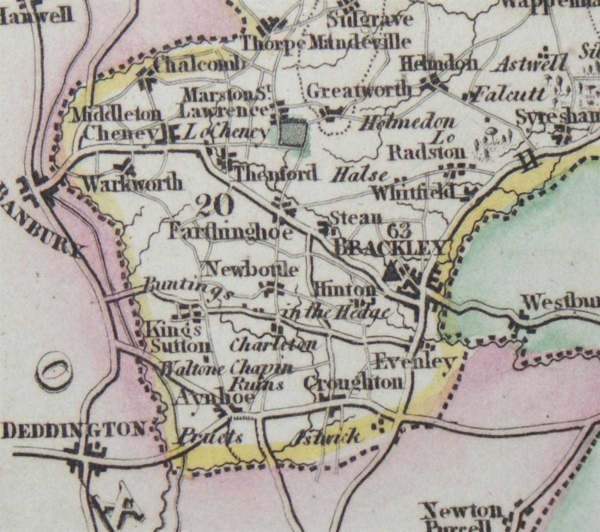 Image for 1839 Map of the County of Northamptonshire - taken from Pigot and Co's British Atlas Comprising the Counties of England (upon which are laid down all railways completed and in progress)