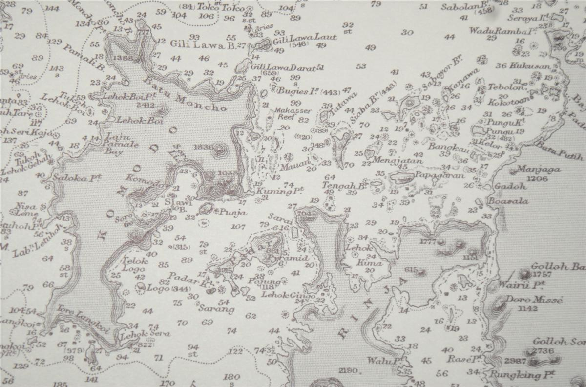 Image for Nautical Chart No. 1696. Eastern Archipelego, Lombok to Flores including Paternoster and Postillon Islands from Netherlands Government Surveys to 1920, additions and corrections to 1950, small corrections to 1962. Scale 1:510,450