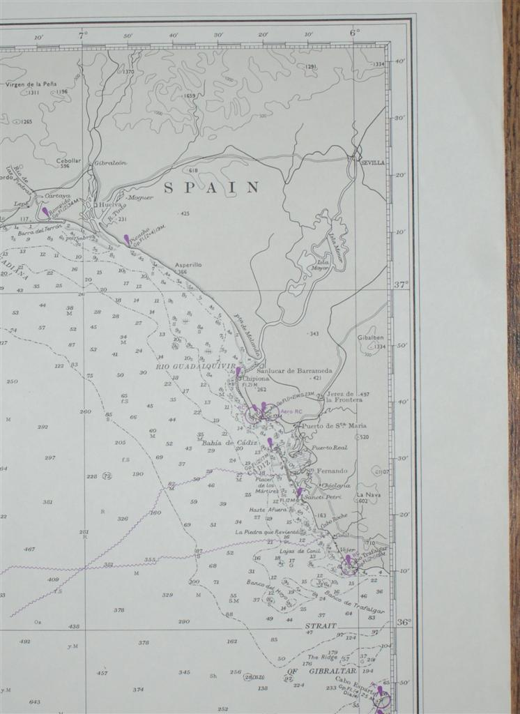 Image for Nautical Chart No. 1228 Europe and Africa - West Coasts, Cabo de Sao Vicente to Cap Ghir