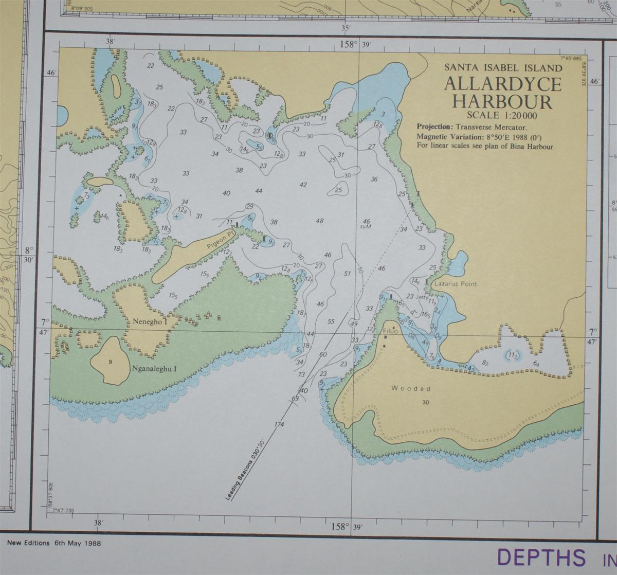 Image for Nautical Chart No. 1747 South Pacific Ocean - Anchorages in the Solomon Islands