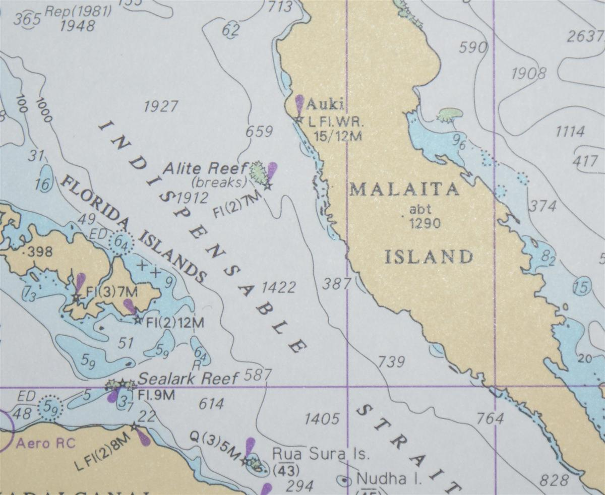Image for Nautical Chart No. 4623 Pacific Ocean - Solomon Islands to Kosrae Island