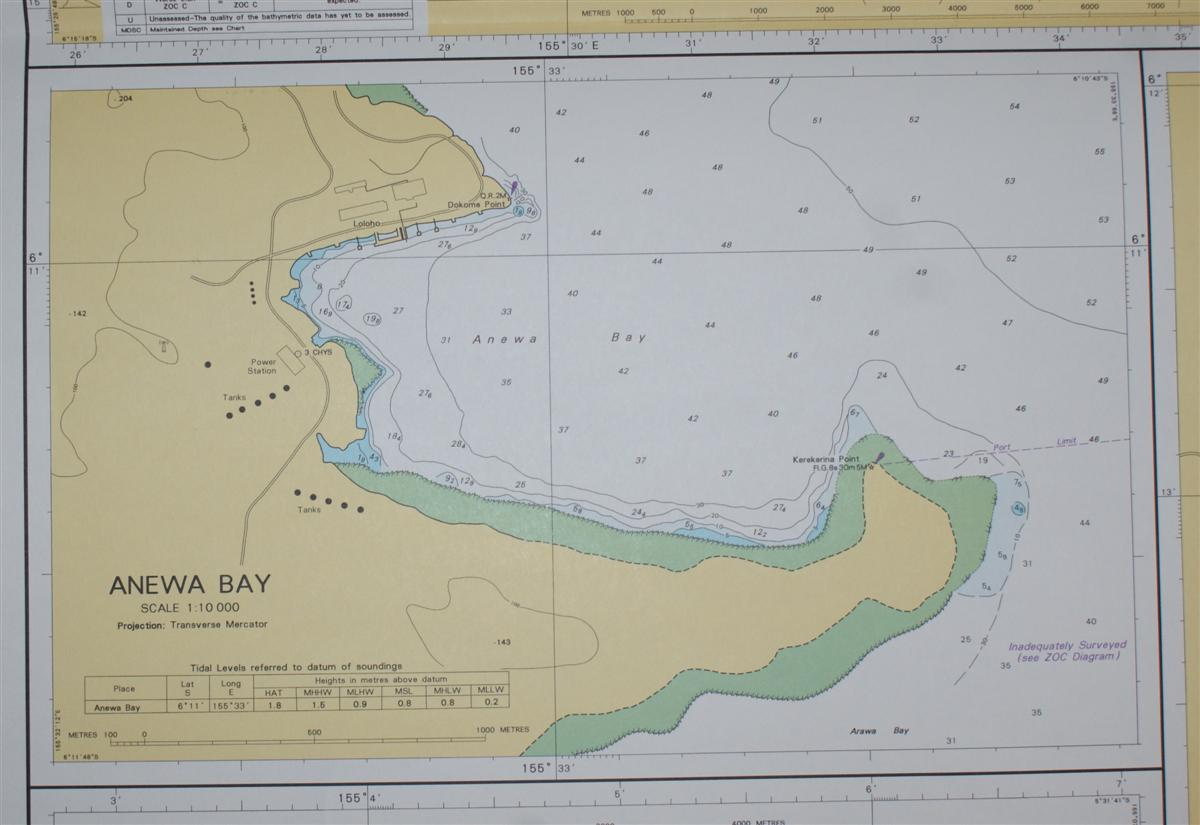 Image for Nautical Chart No. AUS 683 South Pacific Ocean, Plans on the East Coast Bougainville Island