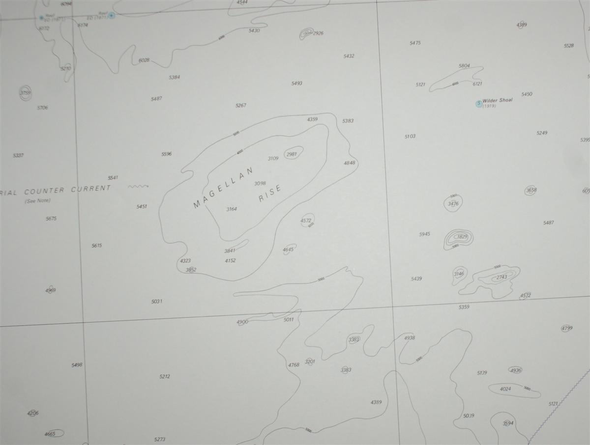 Image for Nautical Chart No. 4617 Pacific Ocean - Tuvalu to Palmyra Island
