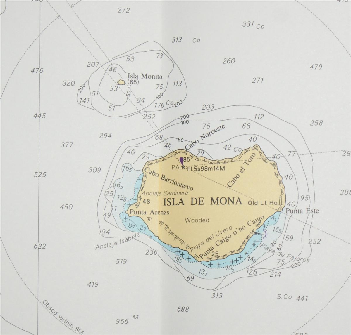 Image for Nautical Chart No. 472 West Indies - Dominican Republic and Puerto Rico, Mona Passage and Isla de Mona