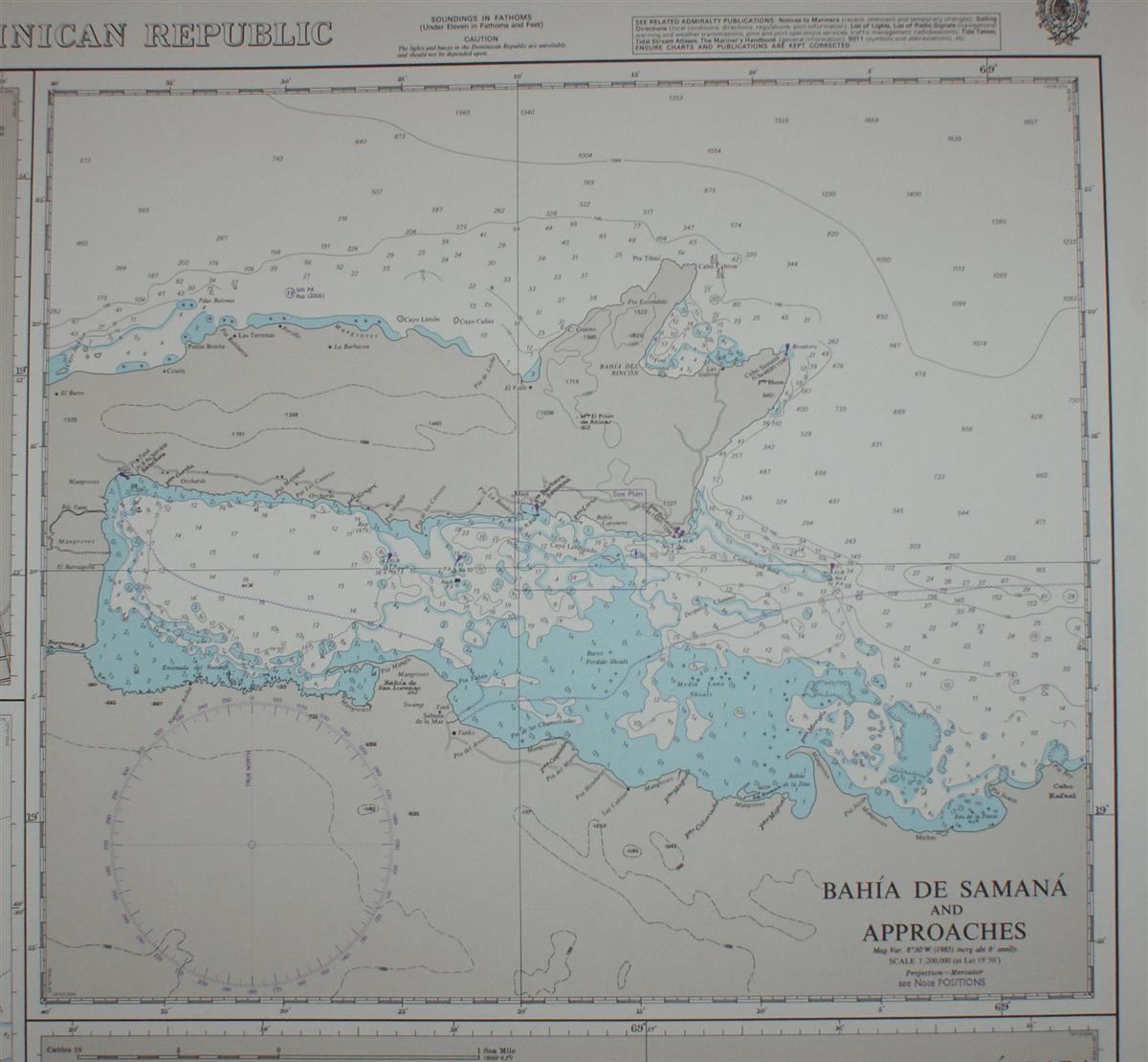 Image for Nautical Chart No. 463 West Indies - Plans on the North Coast of the Dominican Republic