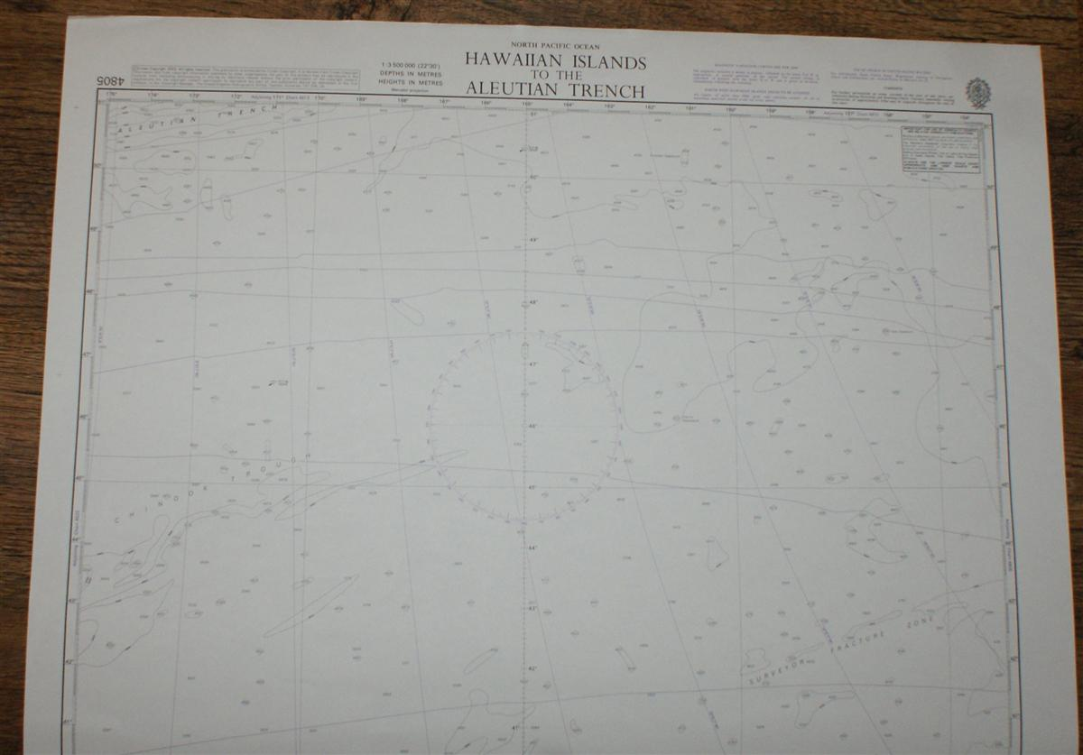 Image for Nautical Chart No. 4805 North Pacific Ocean, Hawaiian Islands to the Aleutian Trench