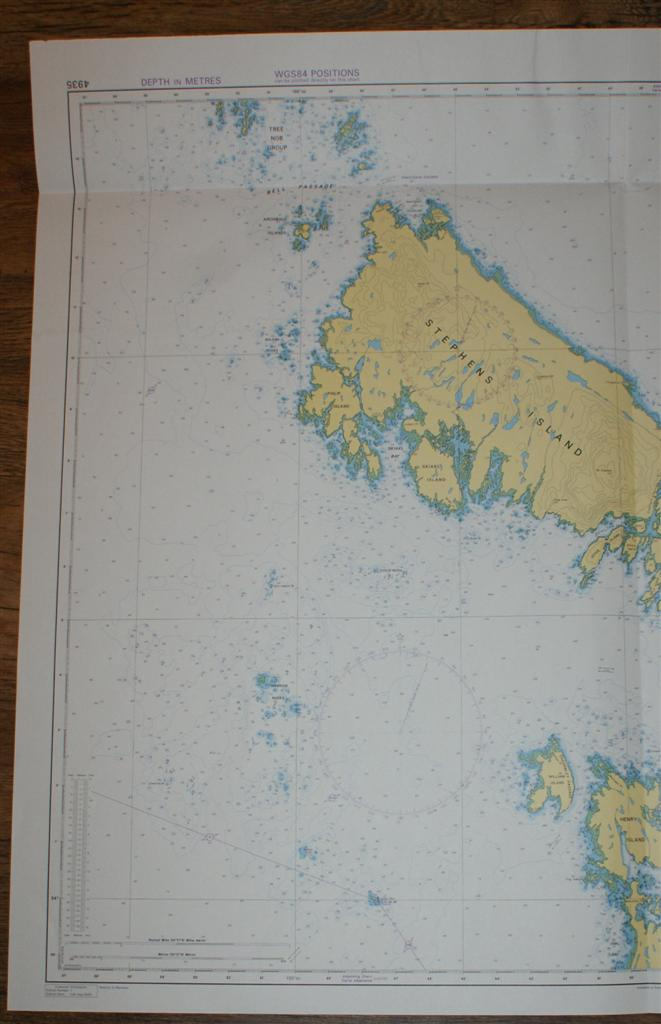 Image for Nautical Chart No. 4935 Canada, British Columbia, Hecate Strait - Chatham Sound, Malacca Passage to Bell Passage