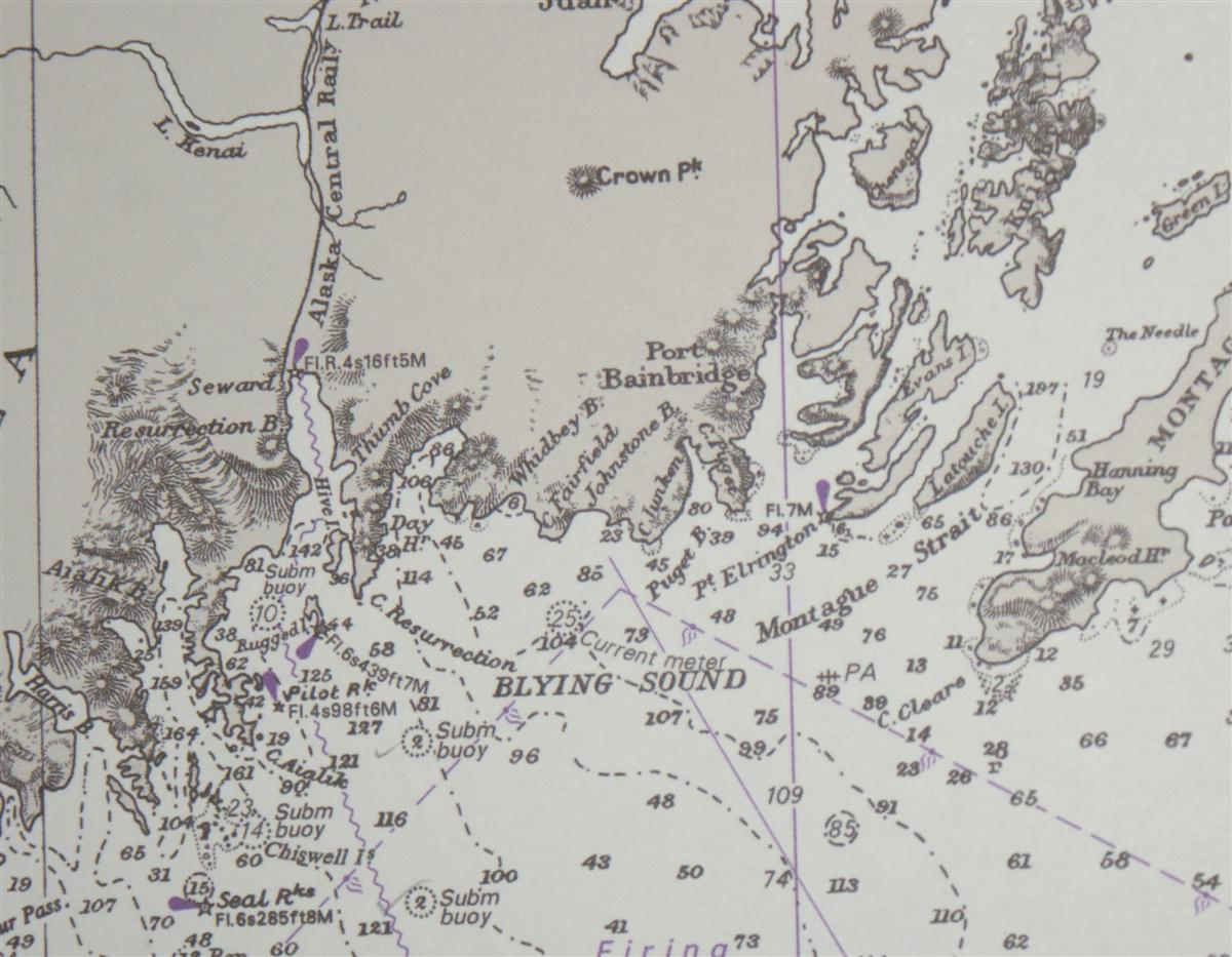 Image for Nautical Chart No. 1499 United States - Alaska, Cross Sound to Kodiak Island